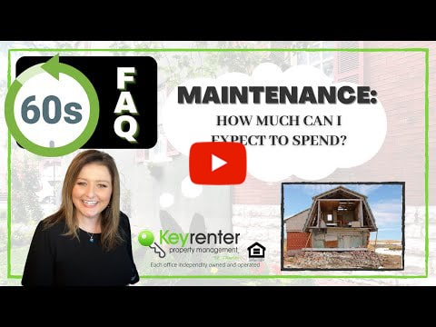 What can I expect to spend on maintenance on my rental property?