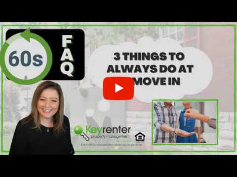 Landlords - What are 3 things you should always do at a move in?