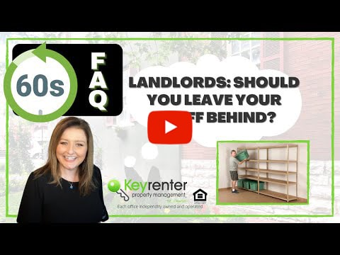 Landlords - Should you leave your stuff behind?